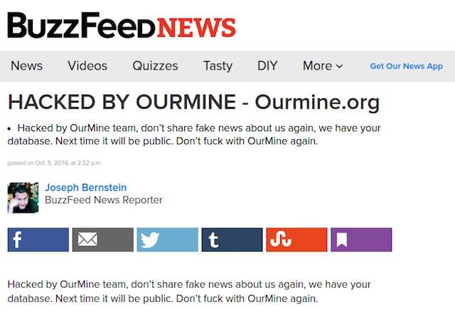 Grupo de ciberpiratas irrumpe en el sitio Buzzfeed